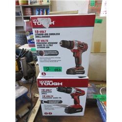Two 18 Volt Cordless Drills - Store Return