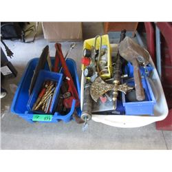 2 Boxes of Assorted Tools & Hardware
