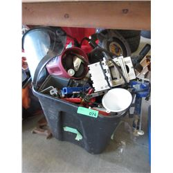 Large Tote of Tools & Hardware