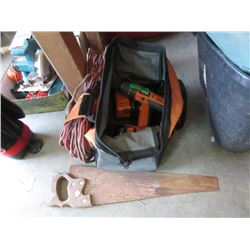 Ridgid Cordless Drill, Hand Saw & Extension Cord