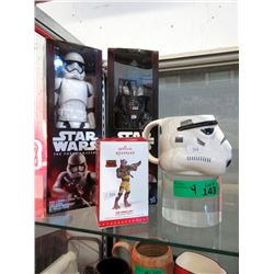 4 Star Wars Collectables in Original Mint Packages