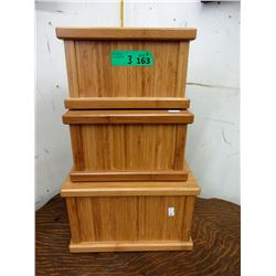 3 Traditional Wood Cremation Urns