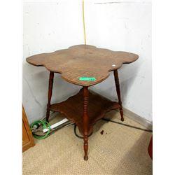 Vintage Oak Clover Parlour Table - Circa 1910