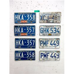 8 BC License Plates