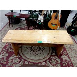 Hand Crafted Solid Wood Backless Bench