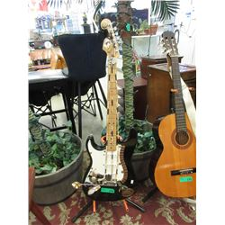 Display Guitar Encrusted with Sea Shells