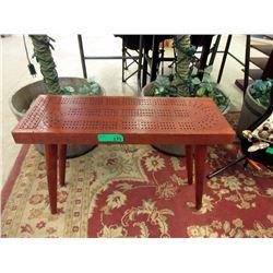 Wood Floor Standing Cribbage Board