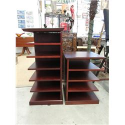 2 Side Tables with Shelves