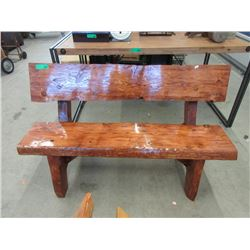 4 Foot Long Hand Crafted Solid Wood Bench