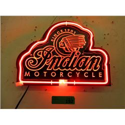 New Electric Neon Indian Motorcycle Sign