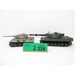 Dinky Leopard Tank & Corgi Tiger 1 Tank