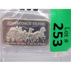 1 OzStagecoach.999 Silver Art Bar