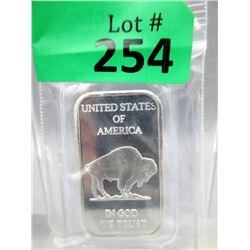 1 Oz First Nations/Buffalo .999 Silver Bar