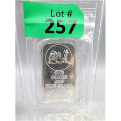 1 Oz Silver Towne Mint.999 Silver Bar