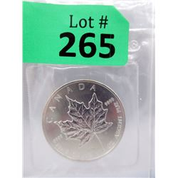 1Oz 1989 Canada .9999 SilverMaple LeafCoin