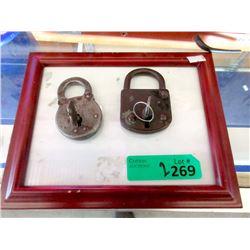 Vintage Yale and Castle Pad Locks with Keys