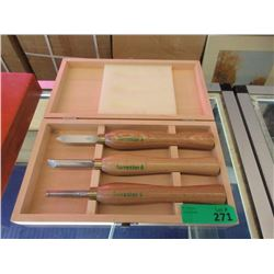 """3 Piece """"Forrester"""" Wood Carving Tool Set"""