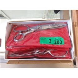 "5 New Pairs of 8"" Stainless Steel Scissors"