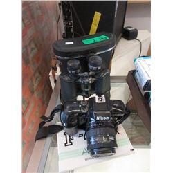 Nikon F-401X Camera & Wetzler Binoculars