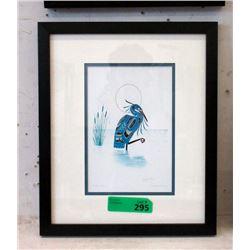 Richard Shorty Framed Print - Blue Heron