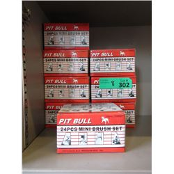 8 New Pit Bull 24 Piece Mini Brush Sets