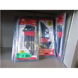 12 New 7 Piece Ball Point Hex Key Sets