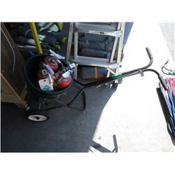 Lawncrafter Spreader & 4 Fire Extinguishers