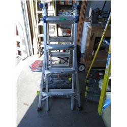 Werner Aluminum 3 Way Ladder - extends to 17 ft