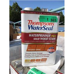 8 One Gallon Pails of Thompson's Water Seal Stain