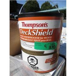 Four 1 Gallon Pails of Thompson's Deck Shield