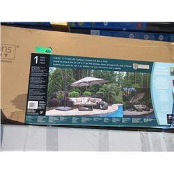11 Foot Solar LED Cantilever Umbrella