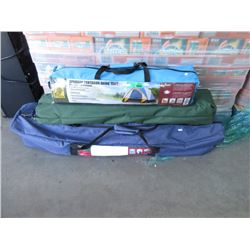 Dome Tent, Folding Cot & Chair - Store Returns