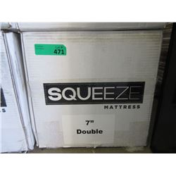 """New 7"""" Double Size Squeeze Mattress"""