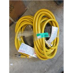 2 New 25 Foot Heavy Duty Extension Cords