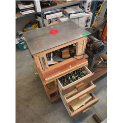 Electric Router on Stand with Many Bits