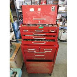 Stacking Metal Tool Chest & Contents
