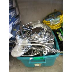 Tote of Assorted Shower Heads - Store Returns