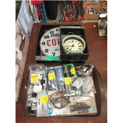 3 Piece Lot of Clocks, Tools & Watches