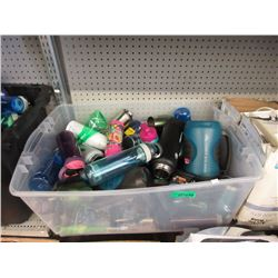 Large Tote of Assorted Beverage Containers