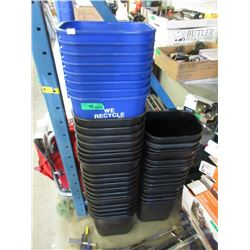 42 Small Trash / Recycling Cans