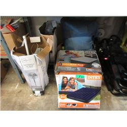 3 Inflatable Mattresses & 2 Electric Fans