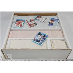 BOX OF SCORE CARDS, SOME OHL AND WHL