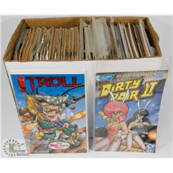 BOX OF VINTAGE COLLECTORS COMICS
