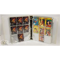 BINDER OF MARVEL OVERPOWER CARD GAME CARDS