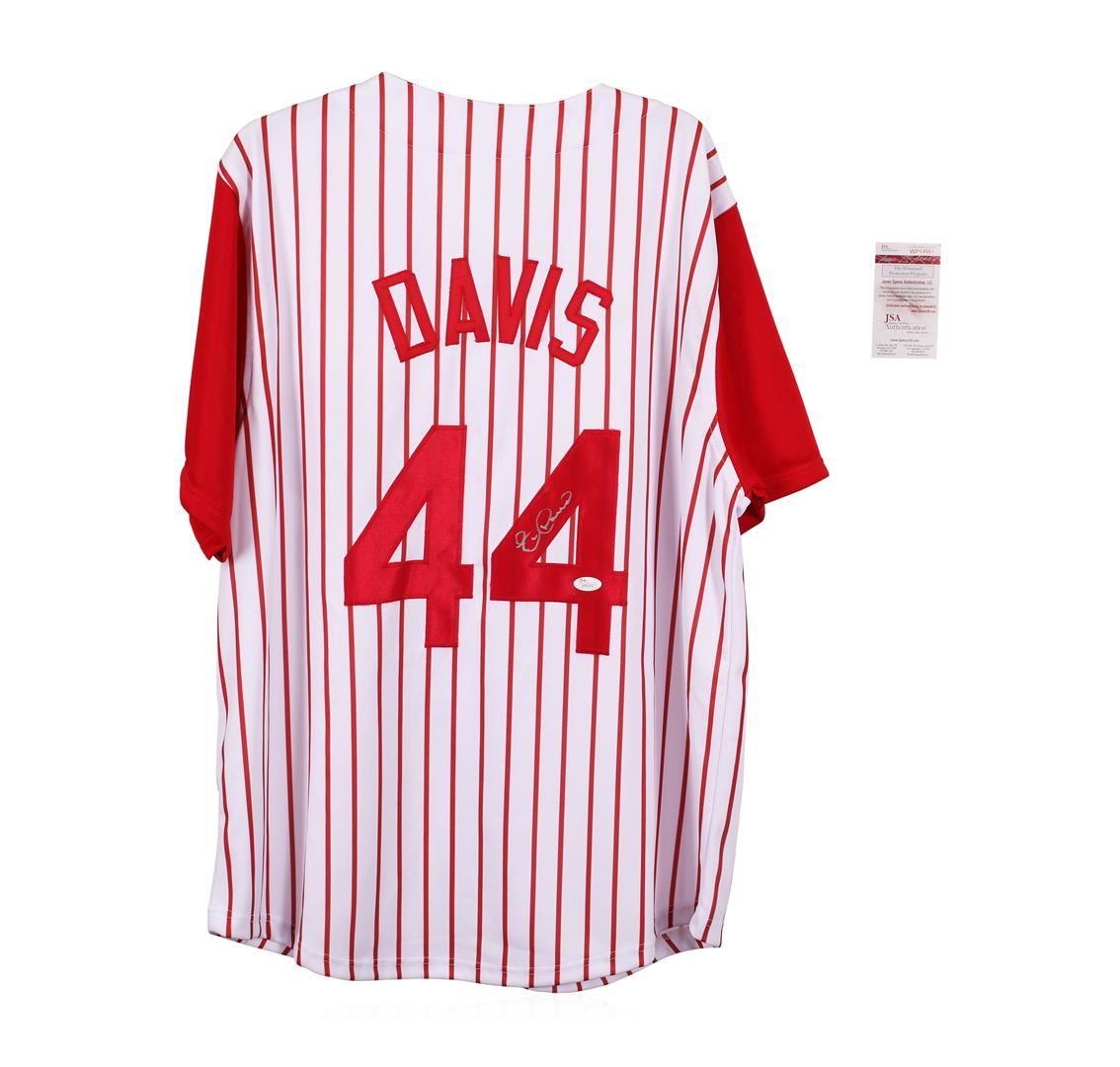 wholesale dealer a8721 cf1d3 Cincinnati Reds Eric Davis Autographed Jersey