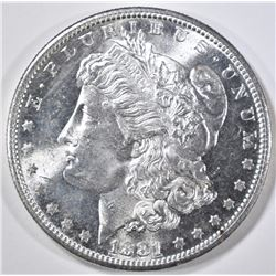 1881-S MORGAN DOLLAR   GEM BU  SEMI PL