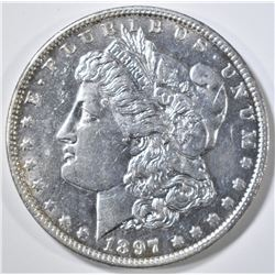1897-O MORGAN DOLLAR  BU  OLD CLEANING