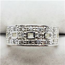 SILVER MEN'S CZ RING SIZE 5
