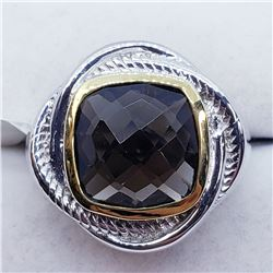 MEN'S SMOKEY TOPAZ RING SIZE 7.5