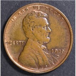 1915-D LINCOLN CENT CH BU RB